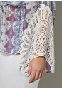 Alternate View Lace Detail Surplice Blouse