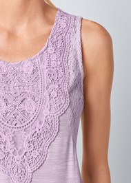 Alternate View Lace Detail Scoop Neck Top
