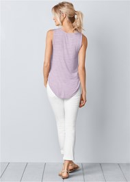 Back View Lace Detail Scoop Neck Top
