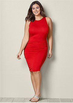 plus size basic tank dress