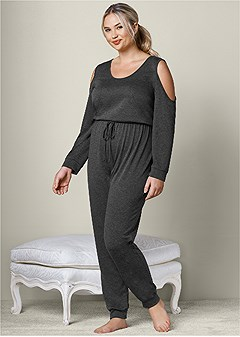 plus size lounge jumpsuit