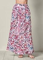 paisley printed maxi skirt