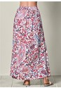 Back view Paisley Printed Maxi Skirt