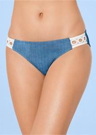 Alternate view Eyelet Trim Bikini Bottom