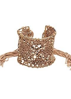fringe detail cuff bracelet