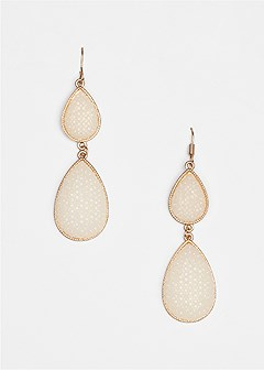 stone detail earrings