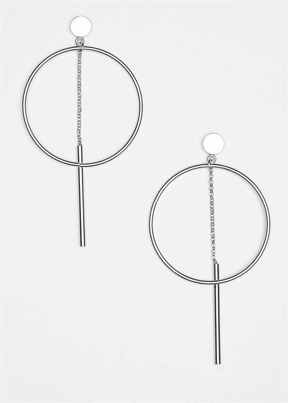 Hoop Detail Earrings,Seamless Top,Frayed Cut Off Jean Shorts