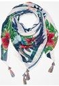 Front View Tropical Print Scarf