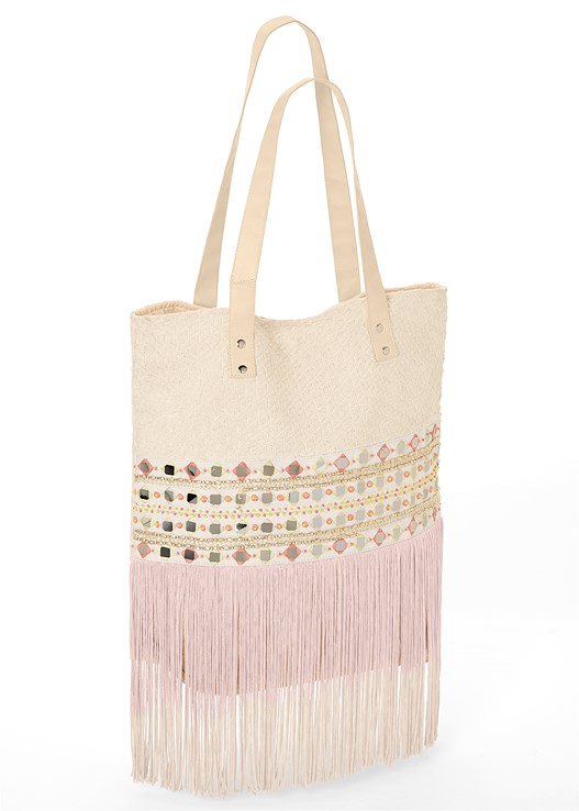 SEQUIN FRINGE TOTE,EASY HALTER TOP,LACE DETAIL MAXI SKIRT,EMBELLISHED THONG SANDALS