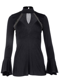 Alternate View Mesh And Chain Detail Top