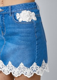 Alternate View Lace Detail Jean Skirt