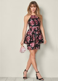 Alternate View Floral Ruffle Detail Dress