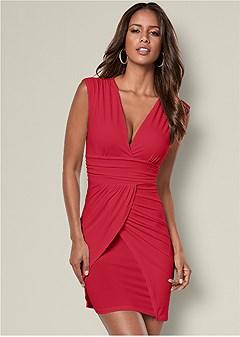 drape detail dress