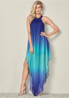 ombre long dress