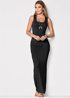 1f475afb1d9 ruched tank maxi dress