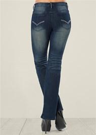 BACK VIEW Embellished Jeans
