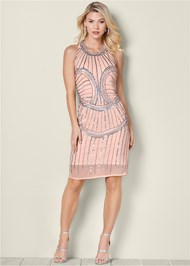 ALTERNATE VIEW Beaded Mini Dress