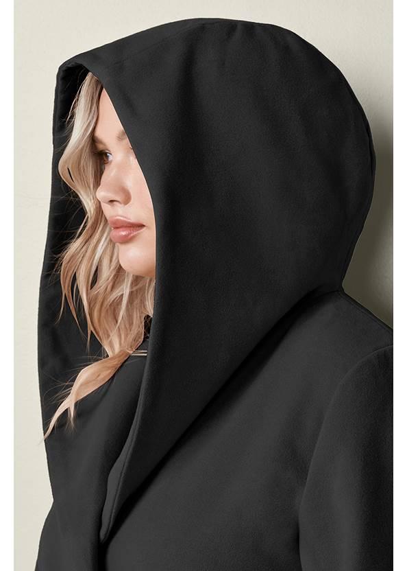 Alternate View Hooded Wrap Coat