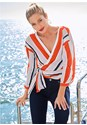 Front View Stripe Wrap Top