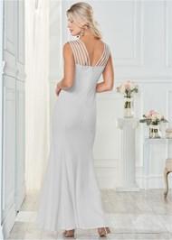 Back view Strappy Long Dress
