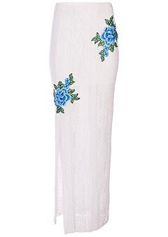 plus size lace maxi skirt