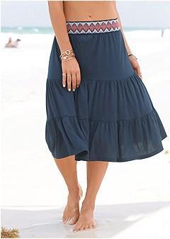 trim detail skirt