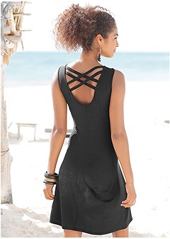 back detail casual dress