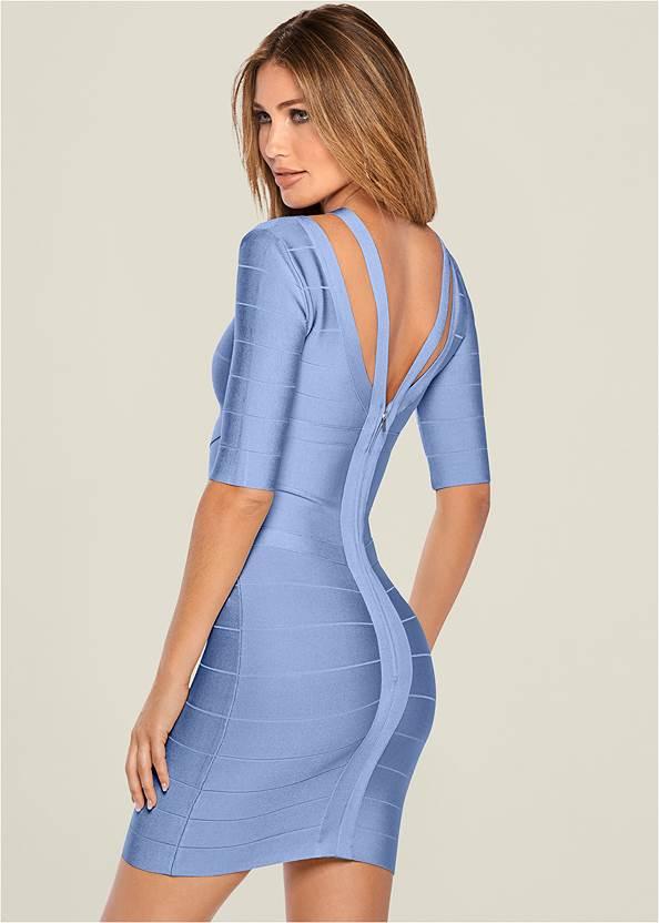 Back View Bandage Strap Detail Dress