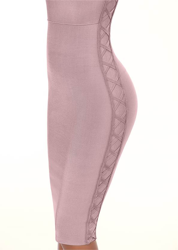 ALTERNATE VIEW Slimming Lace Up Dress