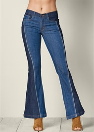 Front view Two Tone Jeans