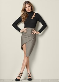 Front view Cut Out Bodycon Dress