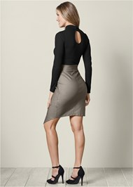 Back view Cut Out Bodycon Dress