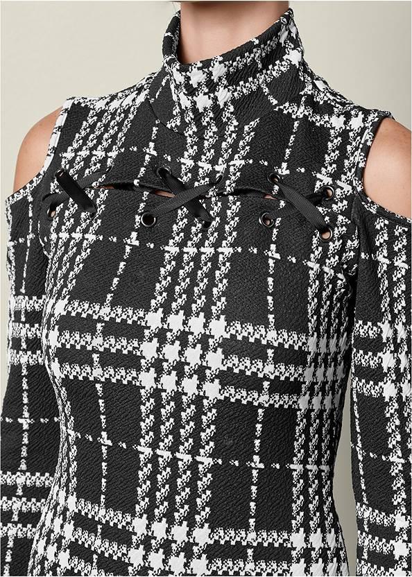 Alternate view Plaid Cold Shoulder Dress