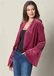 Front view Embellished Velvet Jacket