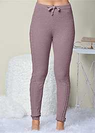 Front View Lined Sweater Lounge Pants