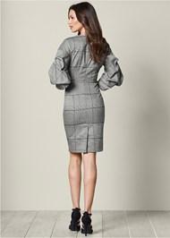 Back view Sleeve Detail Midi Dress