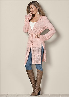 bell sleeve duster