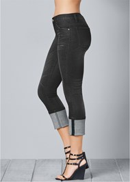 Back View Deep Cuff Jeans