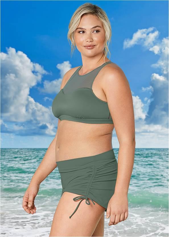 Alternate View Mesh High Neck Bikini Top