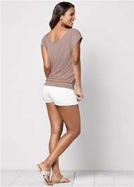 Back View Relaxed V-Neck Top