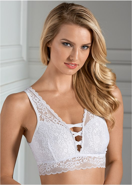 fb5814e4d LACE STRAPPY BRALETTE in White