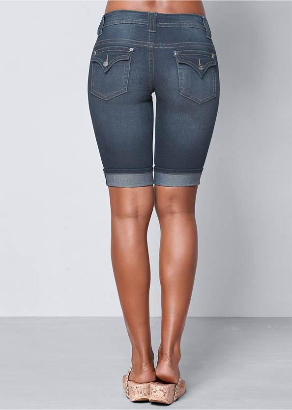 Back view Long Jean Shorts