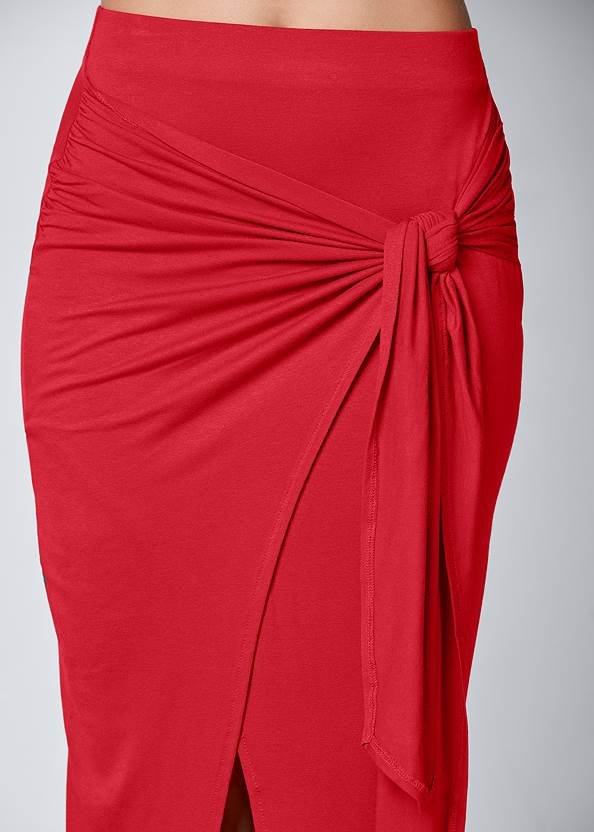 Alternate View Tie Front Long Skirt