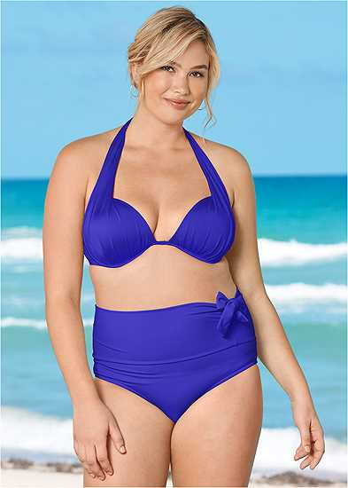 Plus Size Marilyn Underwire Push Up Halter Top