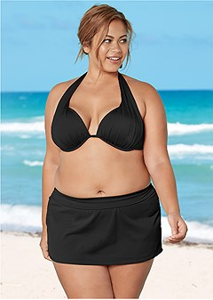 plus size skirted swim bikini bottom