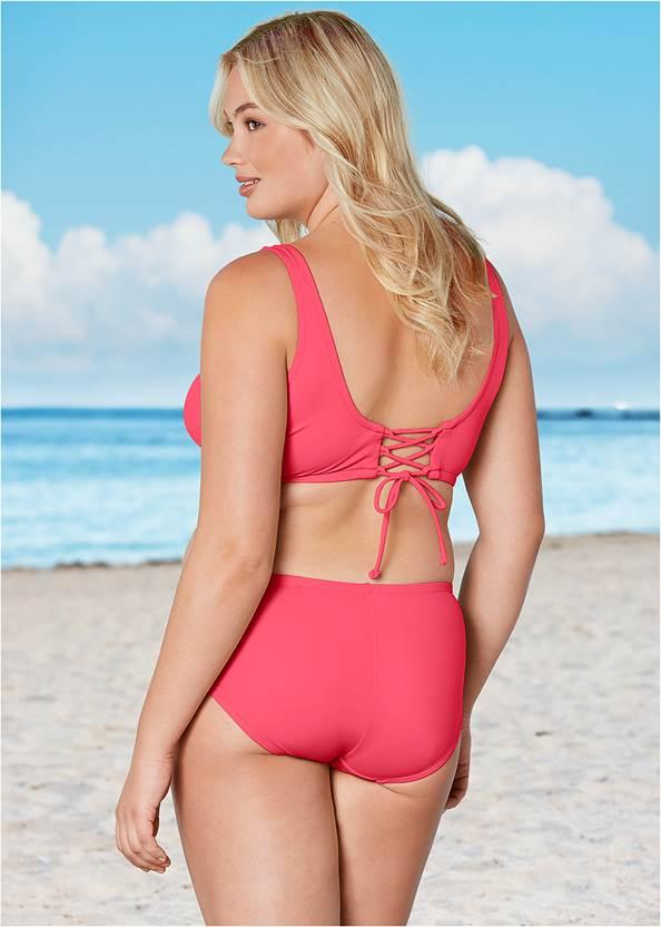 Back View Lattice Side Bikini Bottom