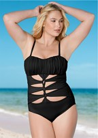 plus size drama queen one-piece
