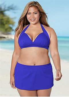 plus size perfection push up halter