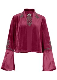 Alternate View Embellished Velvet Jacket