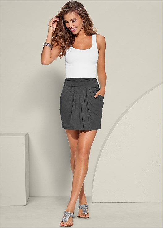 EASY PLEATED MINI SKIRT